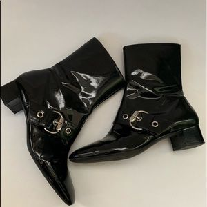 Franco Sarto Anthropologie patent leather boots